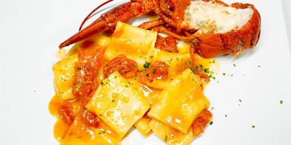 PACCHERI PASTA WITH LOBSTER SAUCE