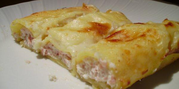 Canelones Jamón cocido y queso provolone