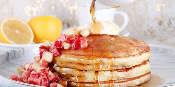 Lemon ricotta pancakes - بان كيك بالريكوتا و الليمون