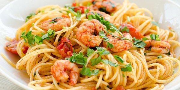 Spaguetti con camarón
