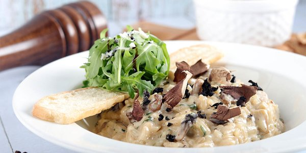 wild mushroom risotto - ريزوتو الفطر