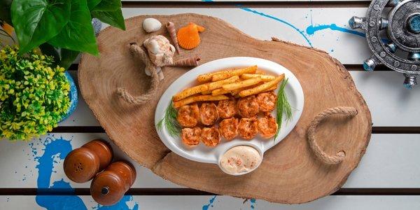 Kalamaki Shrimps Plate