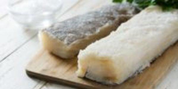 Baccalà sfogliato con crema di patate e finocchioo