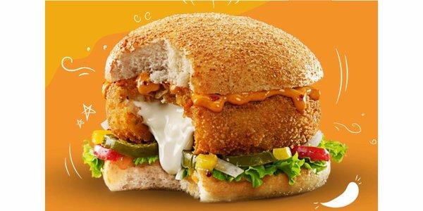 Veggie Chilli Cheese Melt Burger