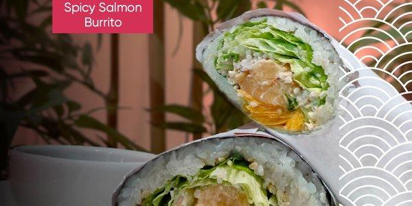 Spicy Salmon Burrito