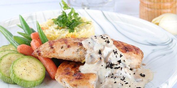 Creamy Chicken Mushrooms - دجاج بالكريمة و الفطر