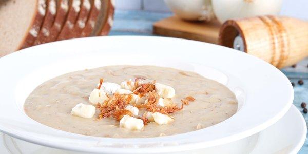 Onion brie soup - شوربة البصل