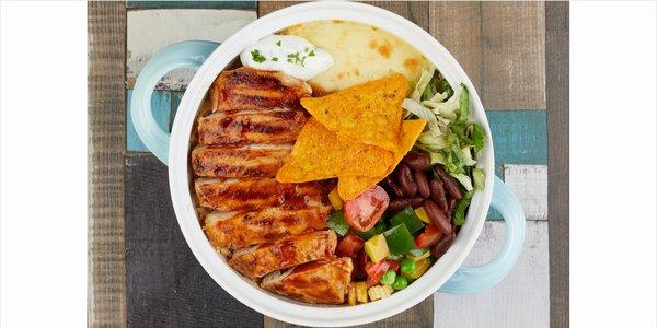 Grilled BBQ Chicken Burrito Bowl