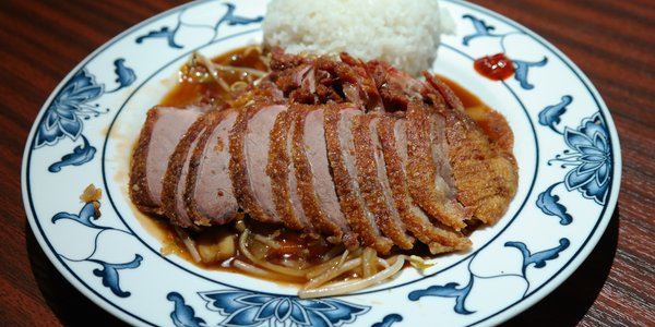 Anatra arrosto in salsa daikon e riso al vapore