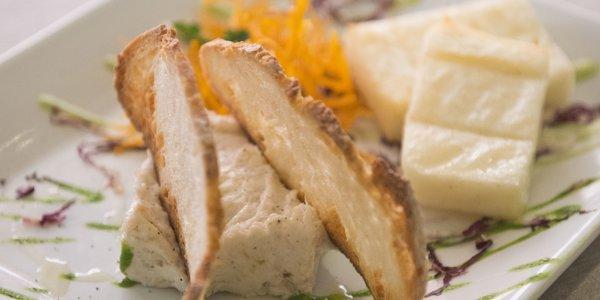 Baccalà Mantecato con polenta bianca brustolà